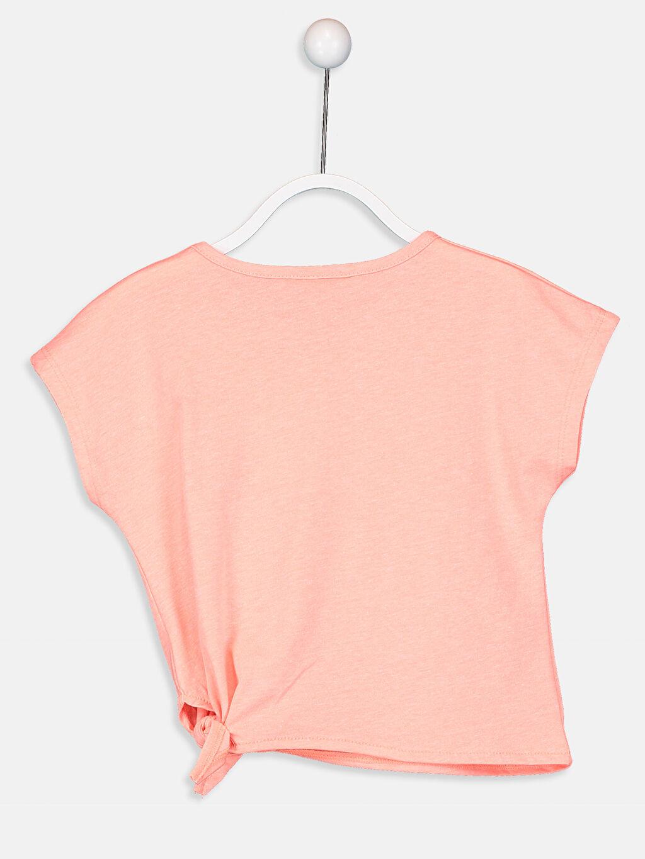 %50 Pamuk %50 Polyester Standart Tişört Baskılı Kısa Kol Bisiklet Yaka Kız Çocuk Baskılı Tişört