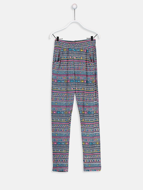 Lacivert Kız Çocuk Viskon Pantolon 9SO740Z4 LC Waikiki