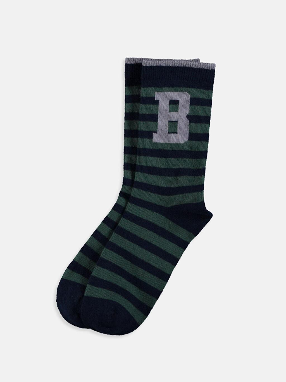 Çok Renkli Erkek Çocuk Soket Çorap 5'li