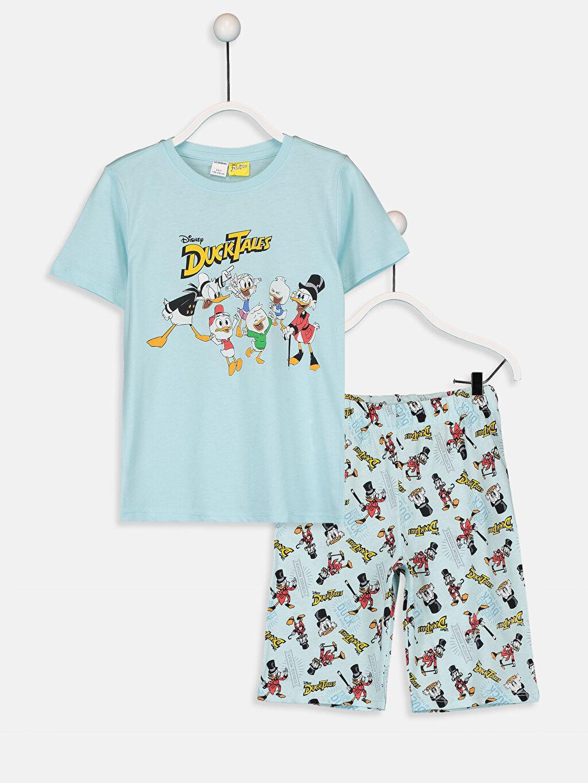 Turkuaz Erkek Çocuk Duck Tales Pijama Takımı 9SP612Z4 LC Waikiki