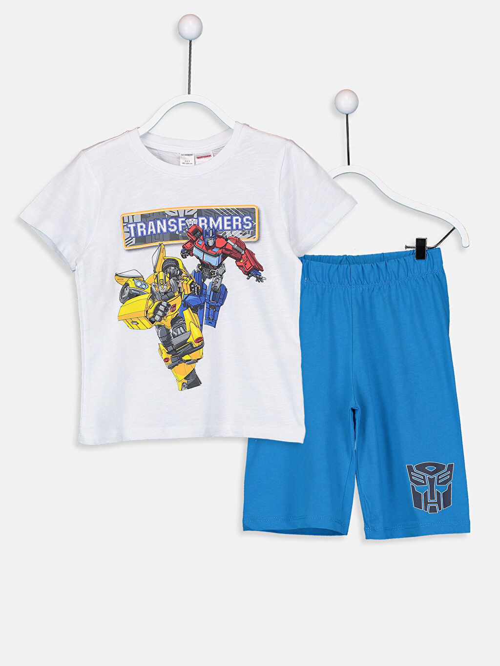 Beyaz Erkek Çocuk Transformers Pijama Takımı 9SQ891Z4 LC Waikiki