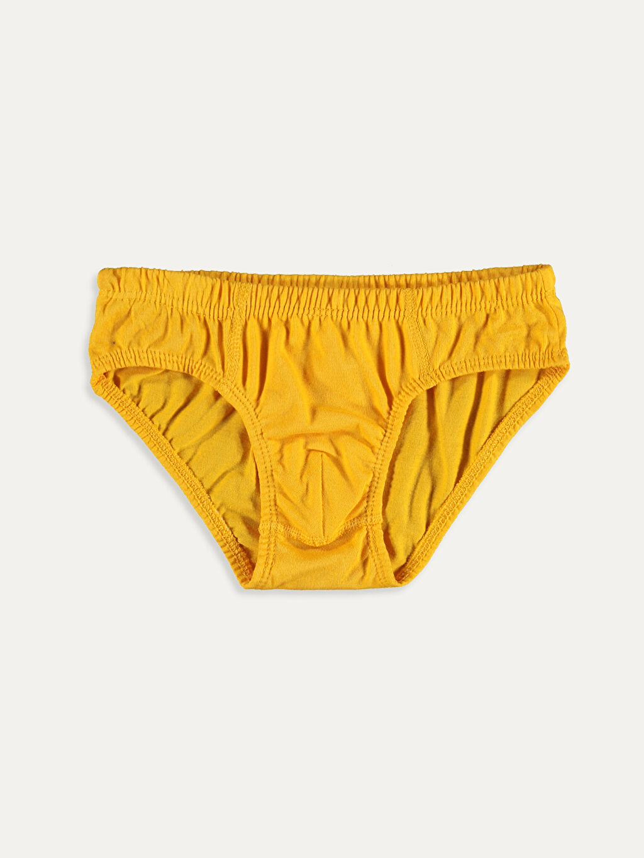 %100 Pamuk Standart İç Giyim Alt Erkek Çocuk Pamuklu Külot 4'lü