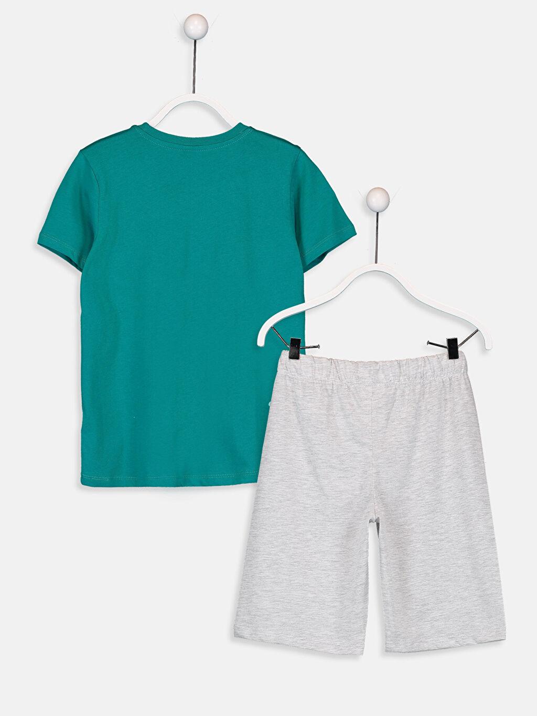 %100 Pamuk Standart Pijamalar Erkek Çocuk Baskılı Pijama Takımı