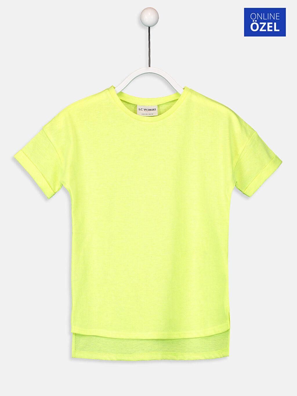 Sarı Kız Çocuk Kısa Kollu Basic Tişört 9SS327Z4 LC Waikiki