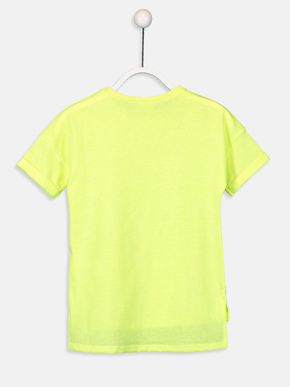 %50 Pamuk %50 Polyester Düz Kısa Kol Bisiklet Yaka Standart Tişört Kız Çocuk Kısa Kollu Basic Tişört