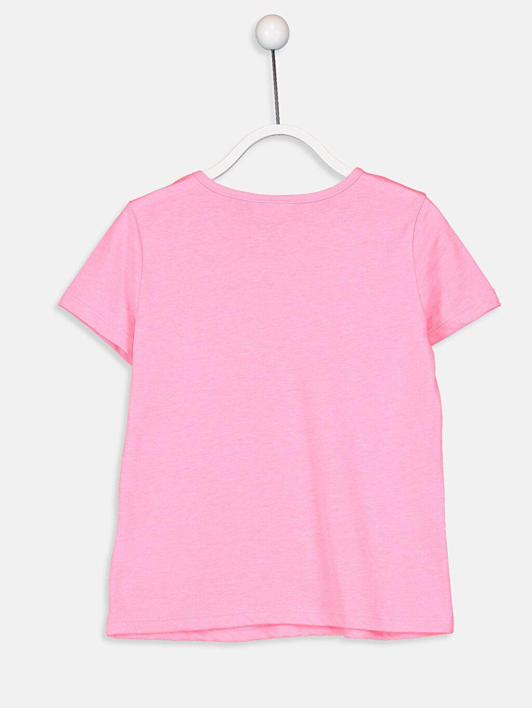 %35 Pamuk %65 Polyester Standart Tişört Baskılı Kısa Kol Bisiklet Yaka Kız Çocuk Baskılı Pamuklu Tişört