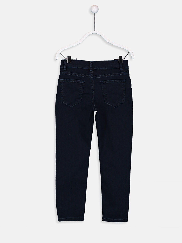 %99 Pamuk %1 Elastane Normal Bel Dar Erkek Çocuk Skinny Jean Pantolon