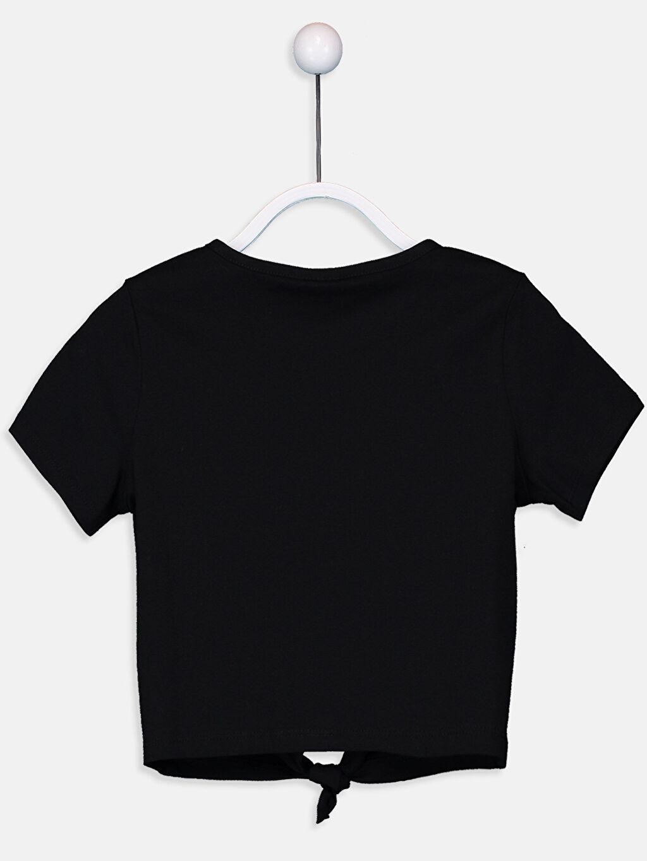 %100 Pamuk Standart Tişört Baskılı Kısa Kol Bisiklet Yaka Kız Çocuk Baskılı Pamuklu Tişört