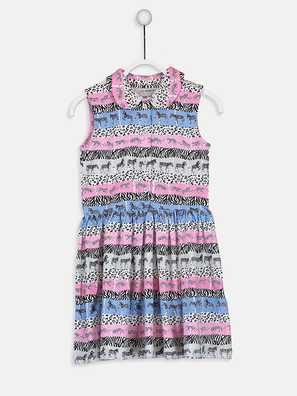 Çok Renkli Kız Çocuk Desenli Pamuklu Elbise 9ST689Z4 LC Waikiki
