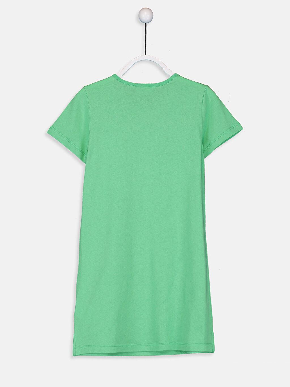 Kız Çocuk Kız Çocuk Pul İşlemeli Pamuklu Elbise