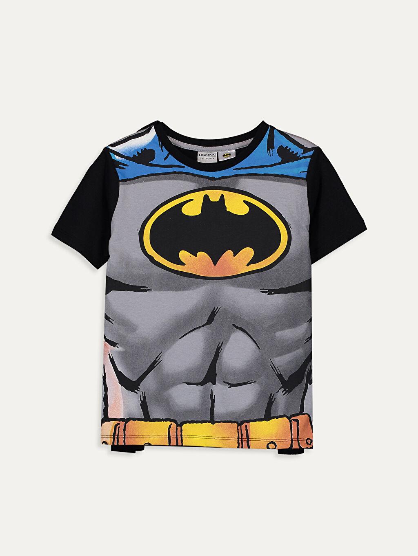 Siyah Erkek Çocuk Batman Tişört ve Pelerin 9SU262Z4 LC Waikiki