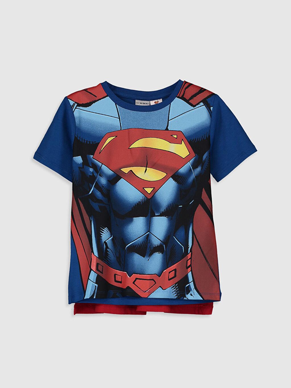 Mavi Erkek Çocuk Superman Tişört ve Pelerin 9SU263Z4 LC Waikiki