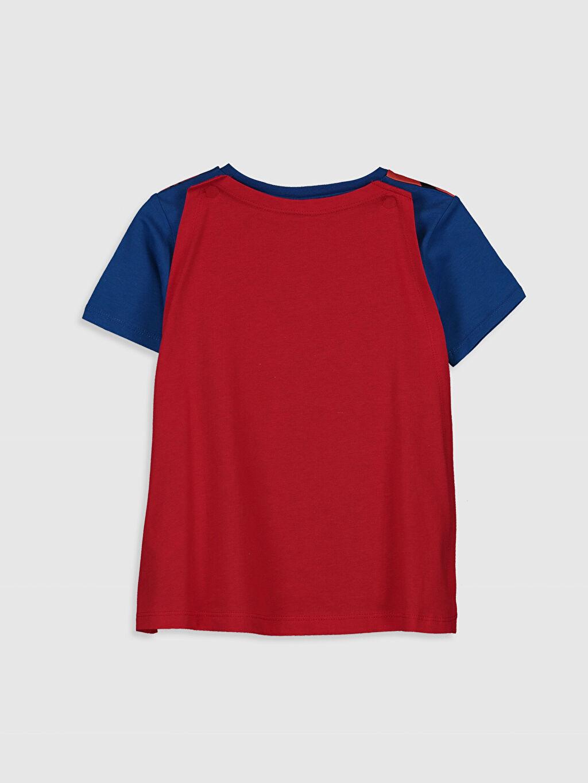 %100 Pamuk %100 Pamuk Bisiklet Yaka Tişört Normal Baskılı Erkek Çocuk Superman Tişört ve Pelerin