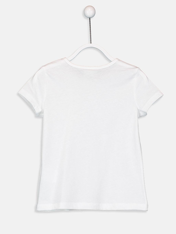 %100 Pamuk  Kız Çocuk Baskılı Pamuklu Tişört