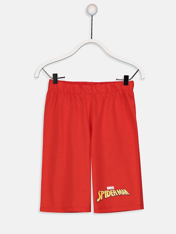 %50 Pamuk %50 Polyester Erkek Çocuk Spiderman Pijama Takımı