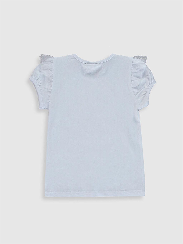 Kız Çocuk Kız Çocuk Çift Yönlü Payetli Tişört ve Taç