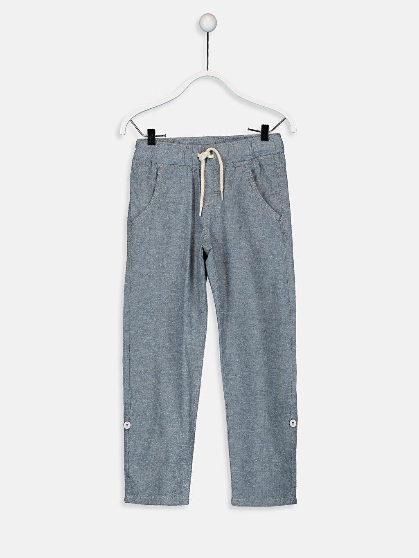 %100 Pamuk Normal Bel Standart Erkek Çocuk Jean Pantolon