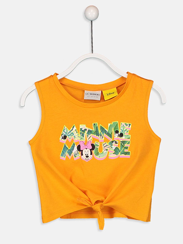 Turuncu Kız Çocuk Minnie Mouse Pamuklu Atlet 9SY815Z4 LC Waikiki