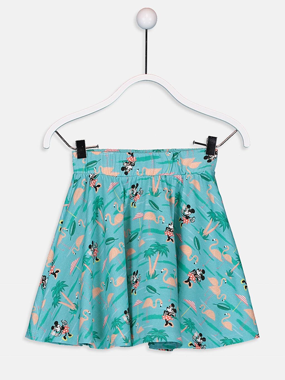 Mavi Kız Çocuk Minnie Mouse Pamuklu Etek 9SY891Z4 LC Waikiki