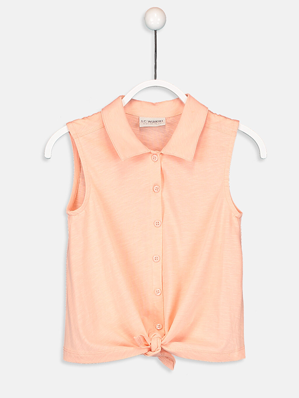 Pembe Kız Çocuk Pamuklu Gömlek 9SA047Z4 LC Waikiki