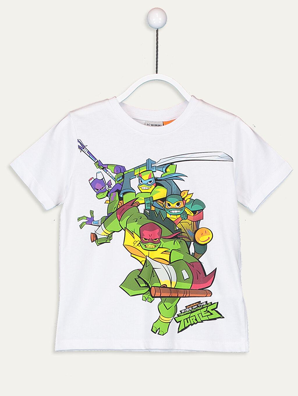 Beyaz Erkek Çocuk Ninja Kaplumbağalar Pamuklu Tişört 9SA054Z4 LC Waikiki