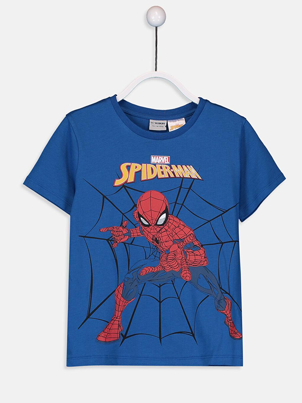 Mavi Erkek Çocuk Spiderman Pamuklu Tişört 9SA341Z4 LC Waikiki