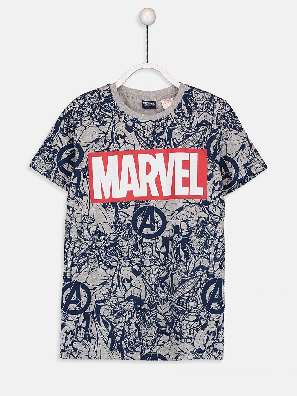 Lacivert Erkek Çocuk Marvel Lisanslı Tişört 9SA343Z4 LC Waikiki
