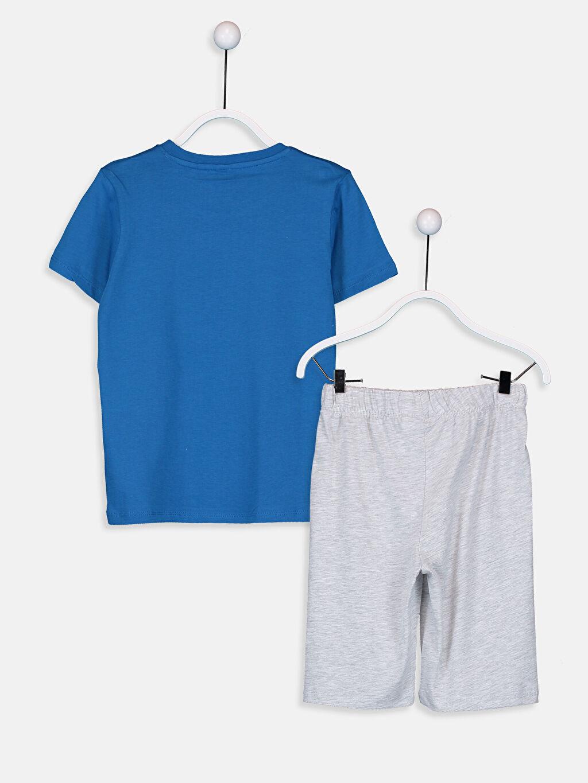 %100 Pamuk Pijamalar Standart Erkek Çocuk Kuru Kafa Nakışlı Pijama Takımı