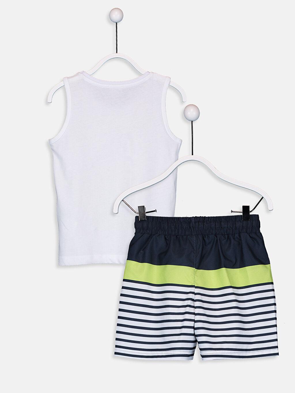 %100 Pamuk %100 Polyester %100 Polyester  Erkek Çocuk Yüzme Takım