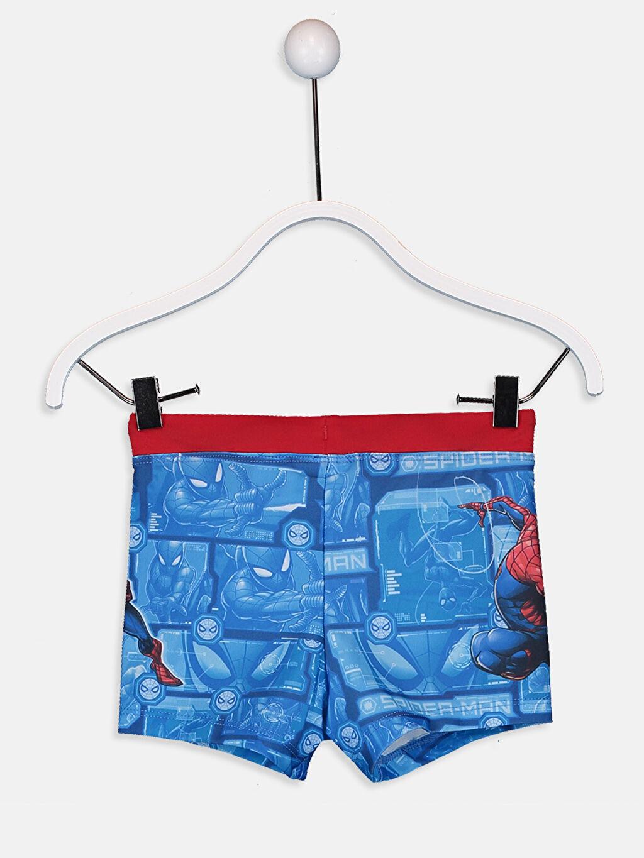 %80 Polyester %20 Elastan %100 Polyester  Erkek Çocuk Spiderman Boxer Mayo