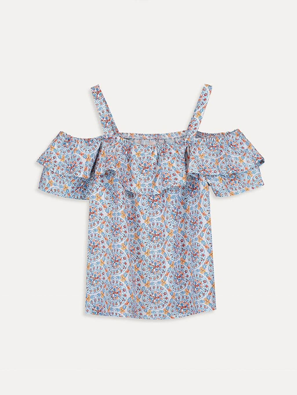 Beyaz Kız Çocuk Omuzu Açık Viskon Bluz 9SA790Z4 LC Waikiki