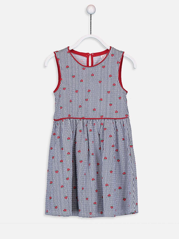 Mavi Kız Çocuk Baskılı Pamuklu Elbise 9SA791Z4 LC Waikiki