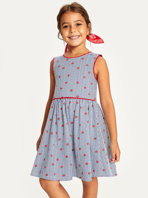 Kız Çocuk Kız Çocuk Baskılı Pamuklu Elbise