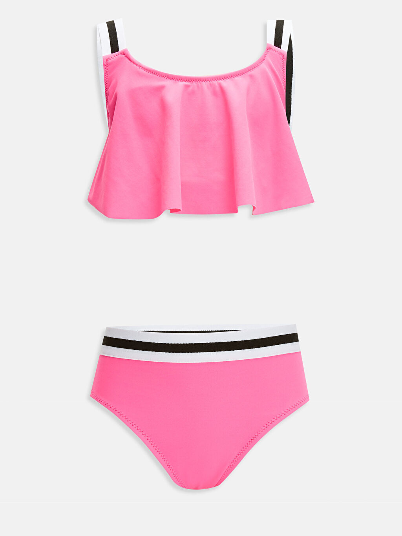 Pembe Kız Çocuk Volanlı Bikini 9SA826Z4 LC Waikiki