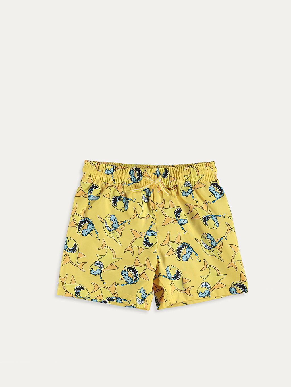 %100 Polyester Erkek Çocuk Baskılı Yüzme Takımı