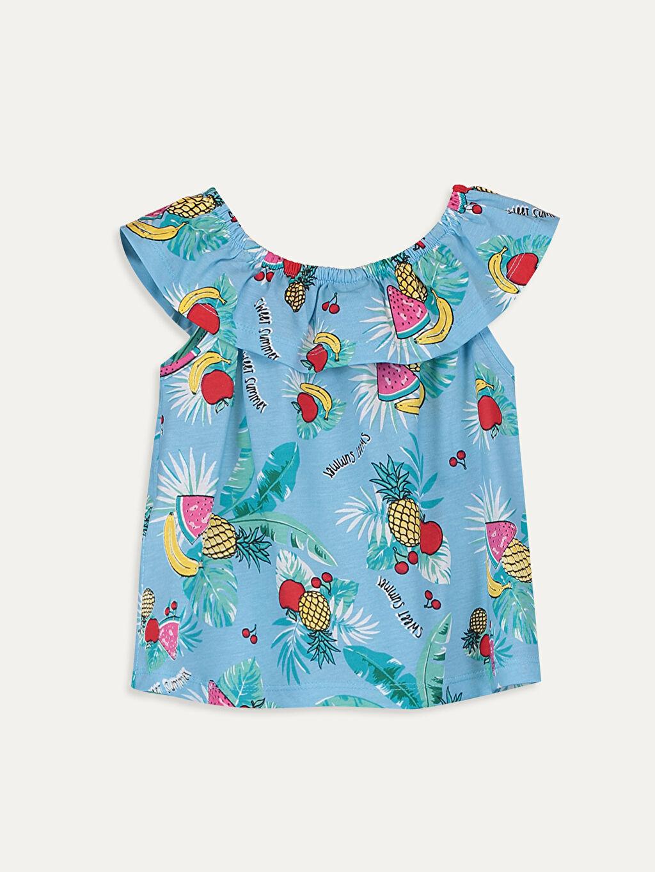 %100 Pamuk Baskılı Tişört Diğer Kısa Kol Standart Kız Çocuk Baskılı Pamuklu Tişört