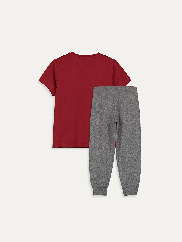 %100 Pamuk Pijamalar Standart Erkek Çocuk Baskılı Pamuklu Pijama Takımı