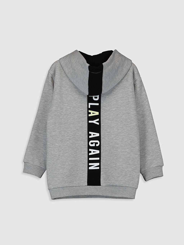 %56 Pamuk %44 Polyester  Kız Çocuk Kapüşonlu Sweatshirt