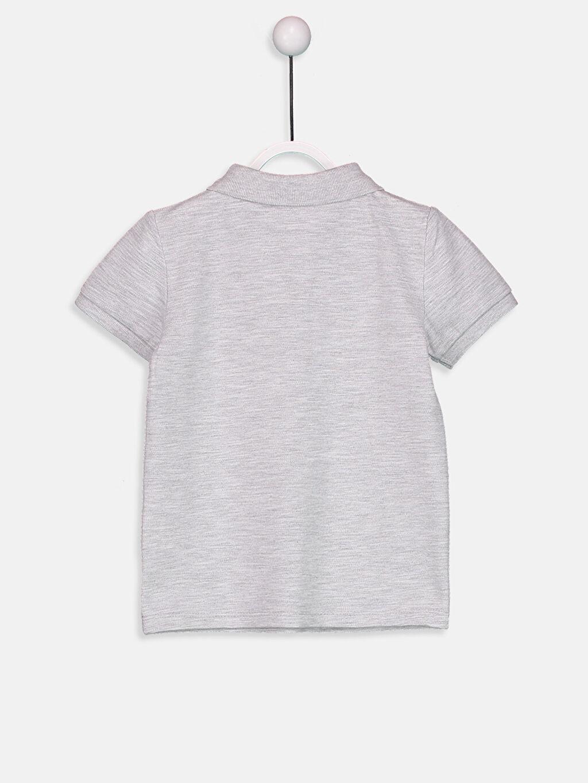 %67 Pamuk %33 Polyester Normal Kısa Kol Tişört Düz Polo Erkek Bebek Polo Yaka Tişört