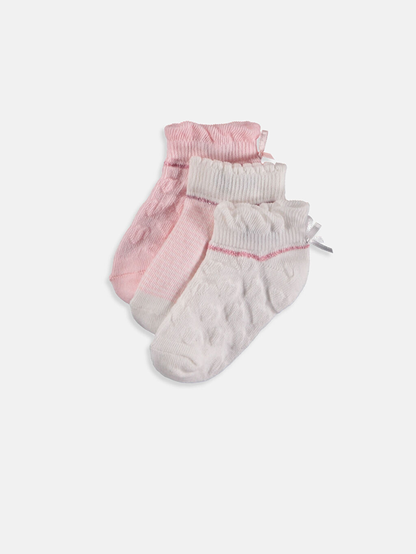 Pembe Kız Bebek Soket Çorap 3'lü 9S2160Z1 LC Waikiki