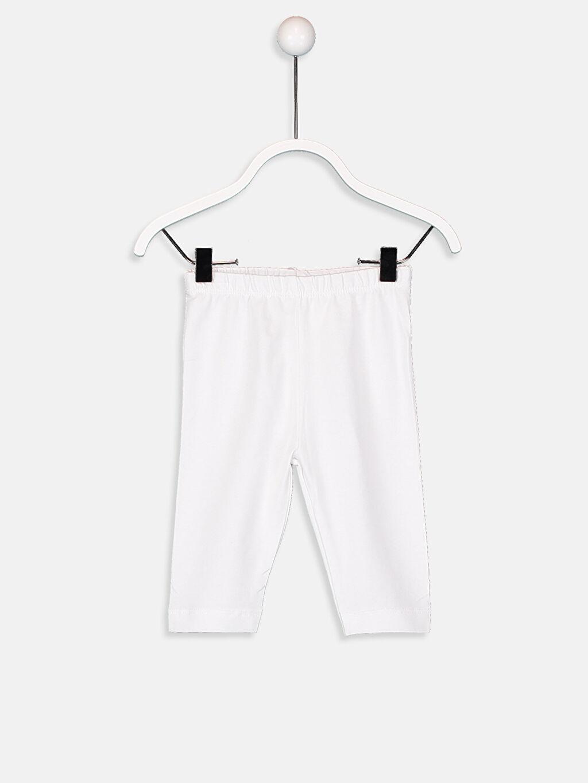 Beyaz Kız Bebek Pamuklu Uzun Tayt 9S2418Z1 LC Waikiki
