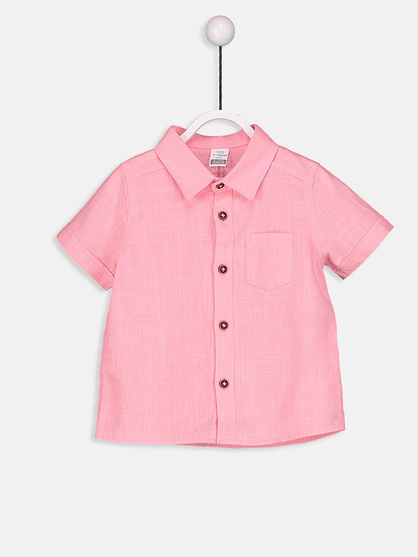 Pembe Erkek Bebek Poplin Gömlek 9S2958Z1 LC Waikiki