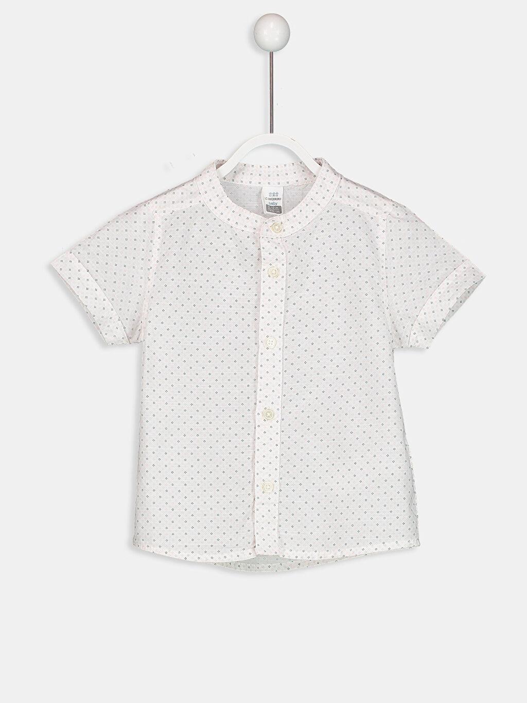 Pembe Erkek Bebek Desenli Poplin Gömlek 9S2959Z1 LC Waikiki