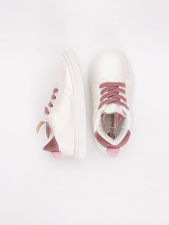 %0 Tekstil malzemeleri (%100 poliester)  Kız Bebek Bağcıklı Sneaker Spor Ayakkabı