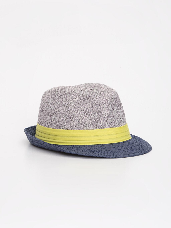 Gri Erkek Bebek Hasır Şapka 9S4270Z1 LC Waikiki