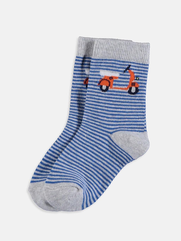 Erkek Bebek Erkek Bebek Soket Çorap 4'lü