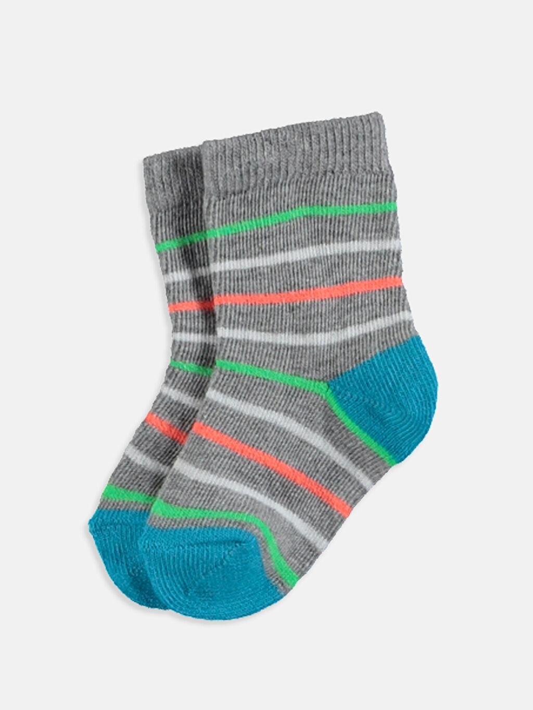 LC Waikiki Çok Renkli Erkek Bebek Soket Çorap 4'lü