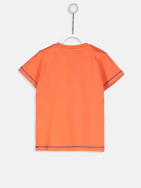 %100 Pamuk Normal Kısa Kol Tişört Baskılı Bisiklet Yaka Erkek Bebek Pamuklu Baskılı Tişört