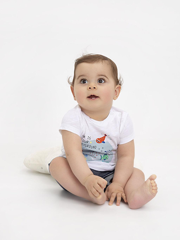 LC Waikiki Kırmızı Erkek Bebek Pamuklu Tişört 2'li