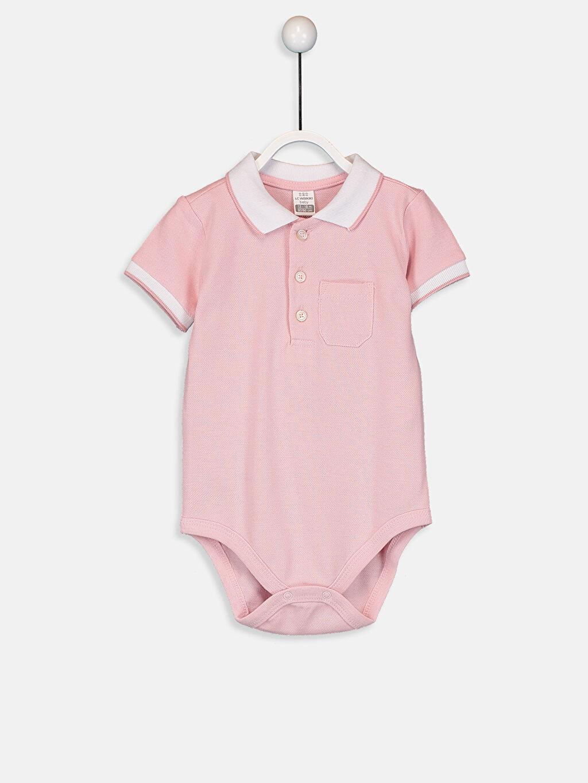 Pembe Erkek Bebek Pamuklu Çıtçıtlı Body 9S5325Z1 LC Waikiki